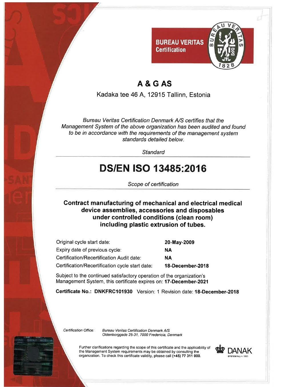 ISO13485, 2016